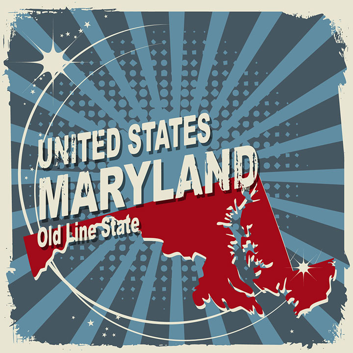 abstract maryland map