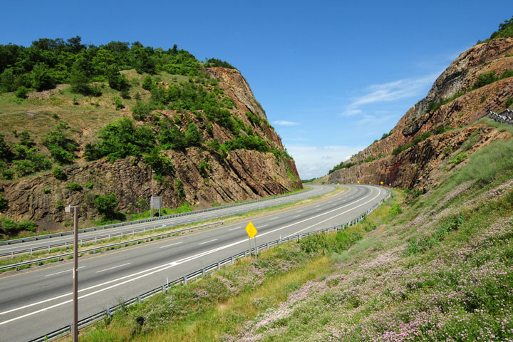 road across Sideling Hill, western Maryland